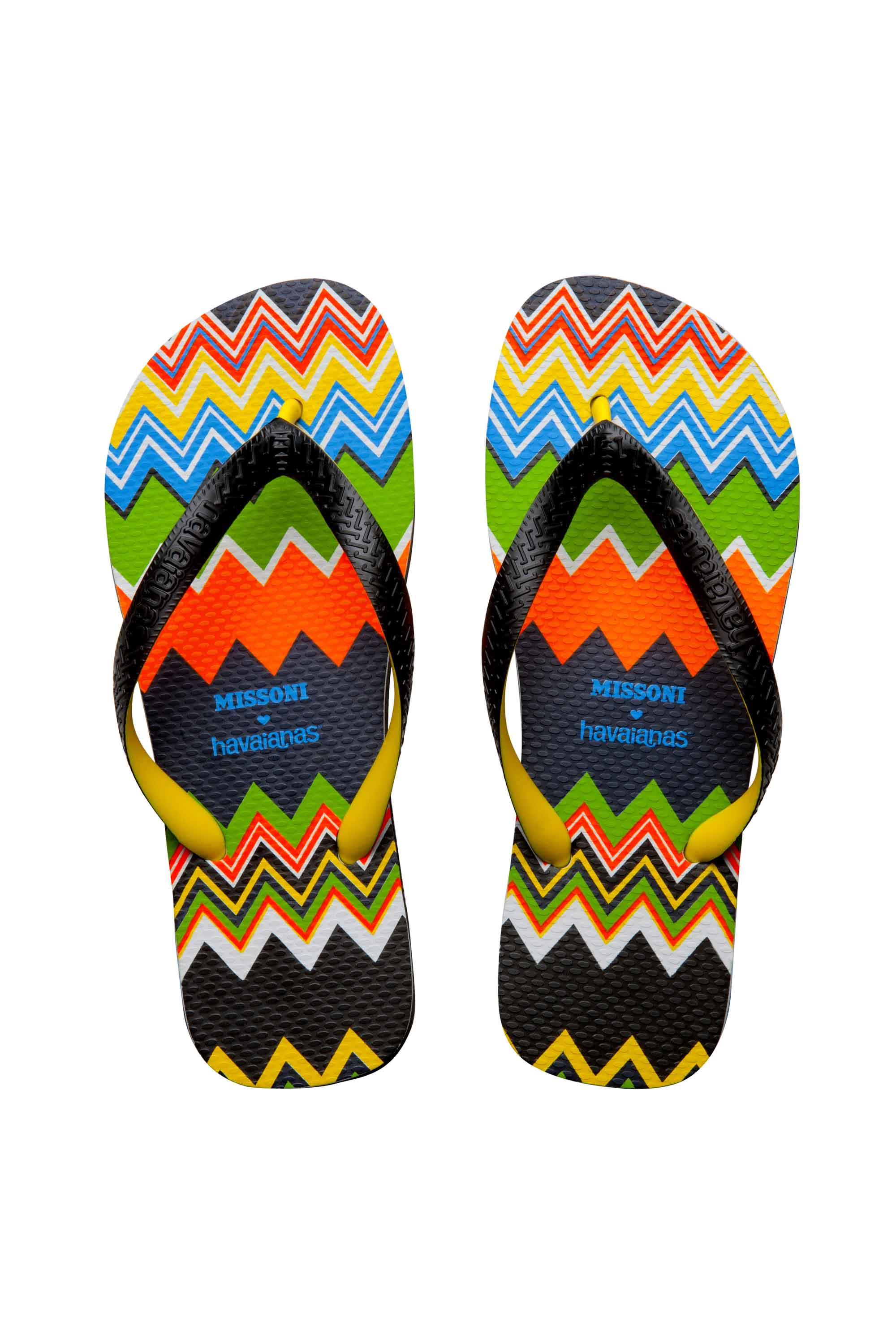1d69e68ca93e37 The italian brand Missoni got together with Havaianas to create some  stylish flip-flops and espadrilles.
