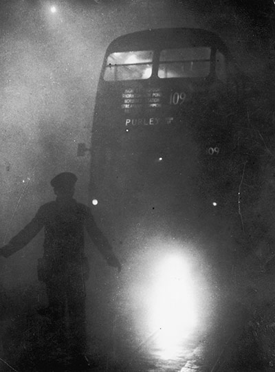 Bus In Smog